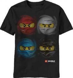 Kiditude - Ninjago Faces T Shirt $16.95 Read more: http://www.kiditude.com/catalog/kids-t-shirts/ninjago-faces-t-shirt-869.html