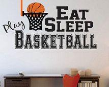 Basketball Wall Decal - Decal for Boy Baby Nursery or Boys Room - WD0058