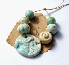 Gaea Ceramic Bead and Art Studio Blog: Swim free. Original and handmade ceramic bead sets. gaea.cc