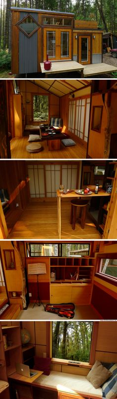 Container House - Room of Requirments sq ft) - Who Else Wants Simple Step-By-Step Plans To Design And Build A Container Home From Scratch? Small Tiny House, Micro House, Tiny House Living, Tiny House Design, Ideas Cabaña, Tyni House, Tiny Cabins, Tiny Cabin Plans, Small Cottages