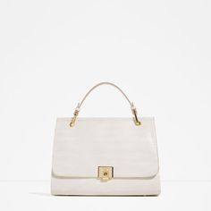 Zara City Bag With Fastening Detail White Purses, White Bags, Zara Bags, Zara New, White Handbag, Classic Style Women, City Bag, Women's Accessories, Backpacks