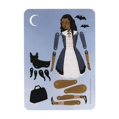 Travel Beam articulated paper doll set with 10 by woolandwater