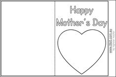 Free Mothers Day Colouring Card Printable Free Printable And Craft - Free mother's day card templates