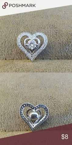 Double heart CZ Stone snap button Double heart CZ Stone snap button for snap button jewelry.  Save on bundling multiple snap buttons. 18mm 1 for 8.00. 2 for 12.00. 3 for 16.00. 4 for 22.00 Jewelry