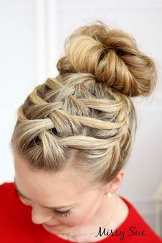 Triple French Braid Bun
