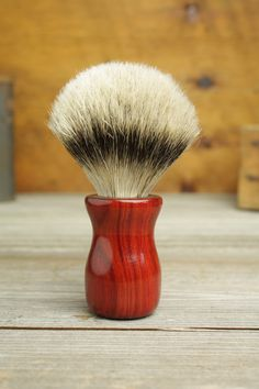 Redheart Truncheonstyle shaving brush with Silvertip Badger by Bare Knuckle Barbery