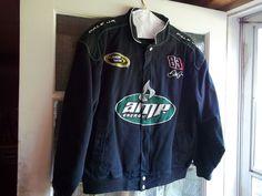 Dale Earnhardt Jr Black NASCAR Racing Jacket XL - AMP/National Guard!!!!!!!!!! #Chase #NASCARCollectibles