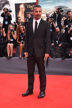 Francesco Munzi in a Valentino total look at the Opening Ceremony during the 72nd Venice Film Festival on September 2nd 2015.
