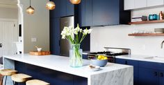 We scoured Instagram for the best new trend for any home this winter: kitchens with a case of the blues.