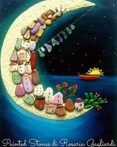 Sea Crafts, Pebble Art, Stone Painting, Painted Rocks, Nautical, Outdoor Decor, Stones, Shells, Manualidades