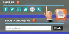 Blogger Alt Bilgi Renkli Gadget Başlık Eklentisi-Footer