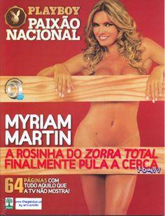 Playboy Especial - Capa: Myriam Martin, A Rosinha do Zorra Total! - Edição Maio 2008