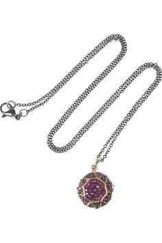 Gem 18-karat Rose Gold Diamond Necklace by Ileana Makri