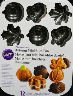 Autumn Mini Bites Cake Pan by Wilton Wilton Baking, Wilton Cake Pans, Baking Pans, Bundt Cakes, Cupcake Cakes, Cupcakes, Baking Supplies, Baking Tools, Fall Recipes