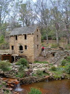 "Where part of the opening scenes of ""Gone with the Wind"" was filmed.  The Old Mill, Little Rock, Arkansas #AETN #BeMore"