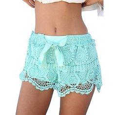 Lace Bow Shorts