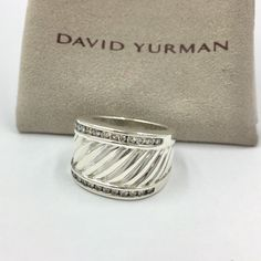 4cbcf7579e59 David Yurman Sterling Silver Ice Diamond Band - 803-01392