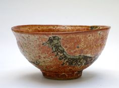 Wood fired Shino glazed Tea Bowl by Elena Renker