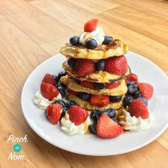 These Syn Free Oat Pancakes are a great way to get your daily HEB, and a great way to start the day! You can top them with pretty much anything you want. This post contains affiliate links. Find out what this means.  Fresh fruit like raspberries or strawberries are great to add some of that…