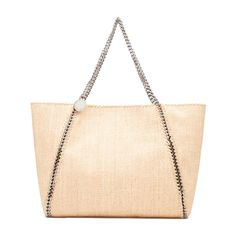 Beach-bound or bumming around the city, Stella's woven tote—sized perfectly for the essentials—is a welcome mood-lifter. Mood Lifters, Stella Mccartney, Fashion Forward, Spring Fashion, Chain, Medium, Bags, Shop, In Trend
