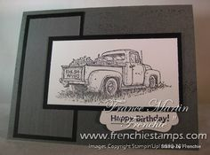 Stamp & Scrap with Frenchie: Countryside in black and gray