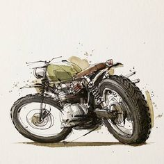 Motorcycle Illustrations By Tomas Pajdlhauser, Via Moto-Mucci. Motorcycle Posters, Motorcycle Art, Motorcycle Design, Bike Art, Bike Design, Art Design, Art And Illustration, Design Illustrations, Art Moto