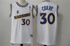 bcafd3406aa Men's Golden State Warriors #30 Stephen Curry 1988-89 White Hardwood  Classics Soul Swingman Throwback Jersey