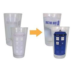 Doctor Who Color-changing 16 Oz. Glass Set of 2 -@- http://geekarmory.com/doctor-who-color-changing-16-oz-glass-set/