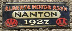 Alberta Motor Ass'n - NANTON - 1927 - AAA - CAA - AMA