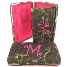Soft Camo Initial ' M ' Thick Flat Wallet Clutch Purse Hot Pink Camoflauge * Click image to review more details. (Note:Amazon affiliate link)