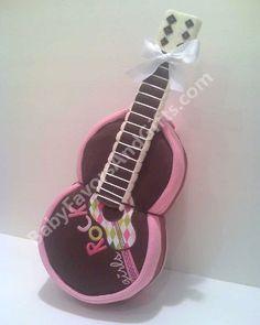 Guitar Diaper Cake