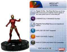Rescue #002 Invincible Iron Man Booster Set Marvel Heroclix