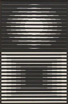 Kinetische kunst ~ Victor Vasarely ~ Capella 4 ~ 1965 ~ Tempera op spaanplaat ~ 128 x 83 cm. ~ The Museum of Modern Art, New York Victor Vasarely, Op Art, Graphic Design Illustration, Graphic Art, Illustration Art, Graphisches Design, Fractal, Kinetic Art, Monochrom