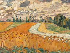 'Les champs de blé' (Wheat fields), c. 1918 - Louis Valtat