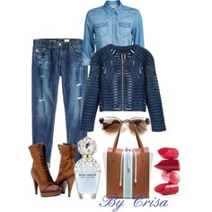 A fashion look from August 2014 featuring ONLY tops, Cynthia Rowley jackets and AG Adriano Goldschmied jeans. Browse and shop related looks.