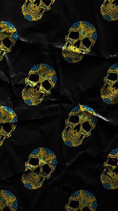 Skull Art Pattern IPhone Wallpaper - IPhone Wallpapers