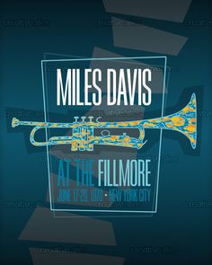 Miles At The Fillmore Poster by Tom I on CreativeAllies.com