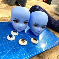 We can't have Interstellar Blue without some matching yellow can we? Prototyping yellow eyes right now. First we make resin ones in house. Then we ask our factory just outside Tokyo to give us a sample print on the special film used in the acrylic eyes. If all is good then they proceed with acrylic samples. Eye color can change in final sample due to light refraction so if it does not meet our expectations then we start the process again. What other colors would you like to see for Interstellar  Smart Doll, Yellow Eyes, Interstellar, Eye Color, Tokyo, The Outsiders, Disney Characters, Fictional Characters, Resin