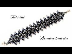 Beaded Bracelet with 8mm and 6mm Glass Pearl . Бисерный Браслет из 8мм и 6мм жемчуга - YouTube