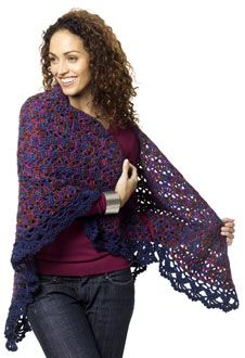 CARON shawl crochet pattern - different colors?