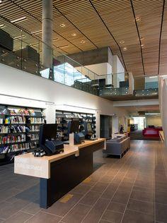 Bibliothèque du Boisé par Éric Pelletier et Lemay, Montréal, Québec. Photo par Yien Chao, fournie par v2com.