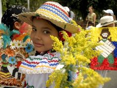 Feria de las Flores - a beautiful celebration of flowers. He got to be at this a few years ago.