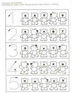 Crafts,Actvities and Worksheets for Preschool,Toddler and Kindergarten.Lots of worksheets and coloring pages. Numbers Preschool, Math Numbers, Kindergarten Worksheets, Worksheets For Kids, Learning Activities, Preschool Activities, Kids Learning, Math For Kids, Math Lessons