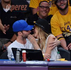 Adam Levine and Behati Prinsloo attend LA Lakers season opener Celebrity Couples, Celebrity News, Adam Levine Behati Prinsloo, Adam And Behati, Kiss Cam, Lakers Game, Sad Faces, Maroon 5, Couple Goals