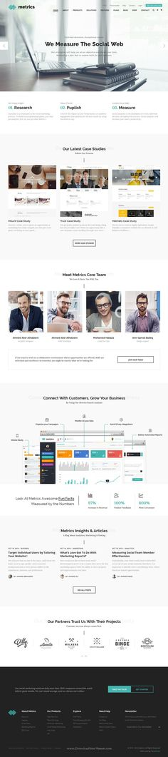 Metrics is a stunning, professional and flexible Bootstrap HTML #Template for Digital Marketing Agencies, SEO companies, Social Media specialists and Marketers, #corporate and accountancy businesses #website. Download Now!