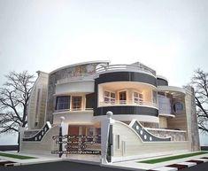 Luxury Homes Dream Houses, Luxury House Plans, Dream House Plans, Modern House Plans, House Architecture Styles, Modern Architecture, Bungalow House Design, Modern House Design, Front Wall Design