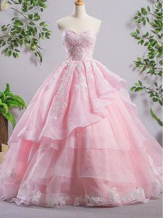 Sweetheart Pink A-line Lace Cheap Evening Prom Dresses, Sweet 16 Dresses, Quinceanera Dresses, 17488 The Long Evening Prom Dresses are fully lined, 8 bones in t Quince Dresses, Pink Prom Dresses, Sweet 16 Dresses, A Line Prom Dresses, Cheap Prom Dresses, Cheap Wedding Dress, Pretty Dresses, Homecoming Dresses, Pink Dress