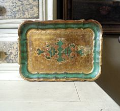 Vintage Italian Green and Gold Gilt Florentine by AloofNewfWhimsy, $30.00
