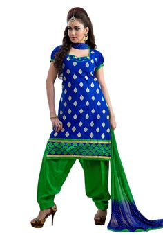 #Blue #Green #Dresmaterail #Casualwear #Officewear #Occasionalwear buy at salwarstudio.com