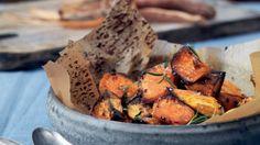 Søde kartofler bagt i ovn
